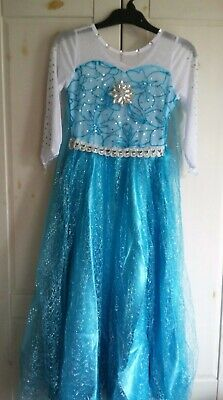 Disney Elsa Frozen Dressing Up Fancy Dress Costume Age 6 NEW with Tags/Bag