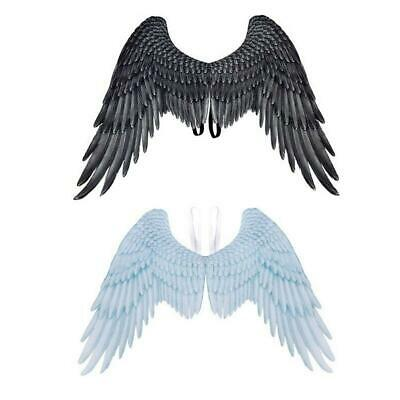 Halloween Black/White angel wings Adult Unisex Carnival Party Cosplay Costume