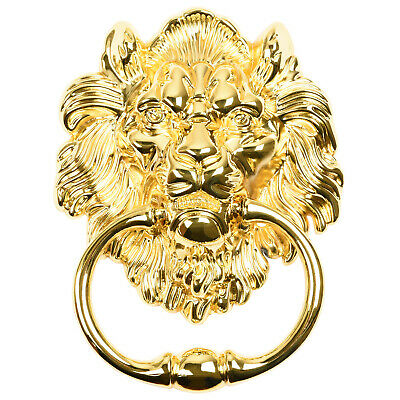 Hartleys Gold Drop Pull Ring Lion Head Dining Chair/Furniture Knocker Handle