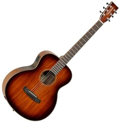 TWMINI-KOA Winterleaf Super Folk Solid Electro Acoustic Guitar - Autumn Burst