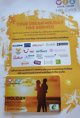 Love2shop Holiday Voucher With £300 Credit
