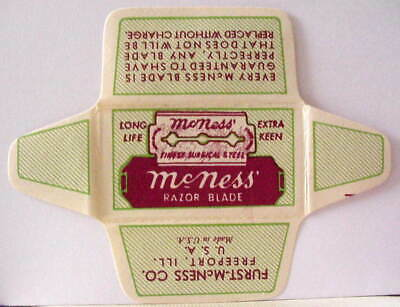 Vintage  MCNESS FINEST SURGICAL STEEL  DE  Safety Razor Blade