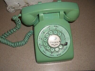 1969 - Rotary Phone - Mint Green -- Itt Phone / Central Telephone System