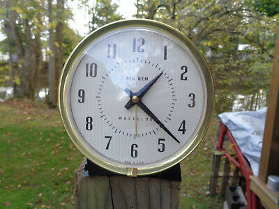 ANTIQUE VINTAGE Clock ALARM PARTS AS-IS ESTATE WESTCLOX BIG BEN MIDC