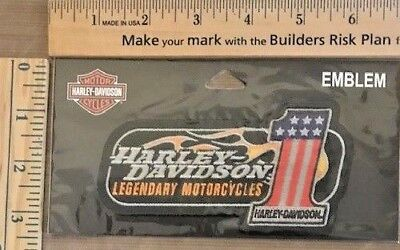 RETIRED Harley Davidson Genuine Patch -  #1 RWB LEGENDARY MOTORCYCLES EM227642