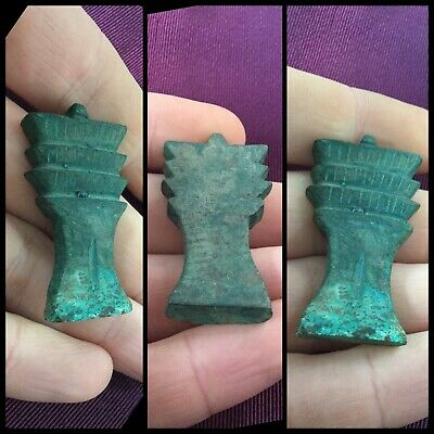 Rare ancient Egyptian blue amulet, 300 bc