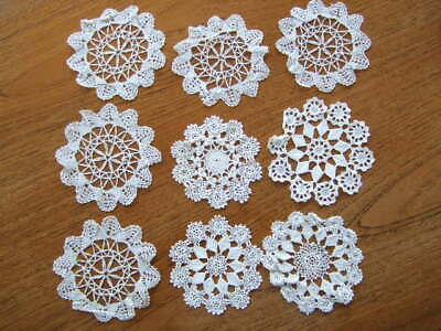 LB7224-38mm 1pc SPECIAL RARE LARGE DOILY CROCHET PLASTIC 2 HOLE ITALIAN BUTTONS