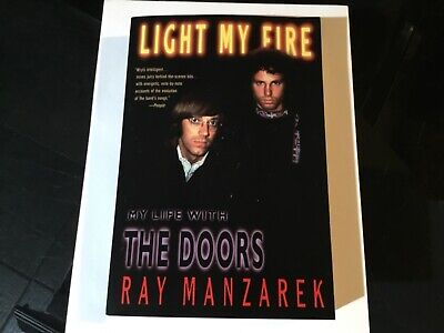 "RAY MANZAREK of THE DOORS Hand Signed In Ink Autographed ""Light My Fire"" Book"