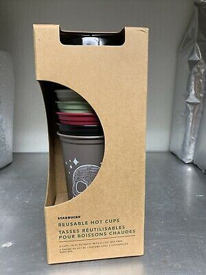 2019 Starbucks Halloween Reusable Hot Cups - Limited Edition 6 Cups & Lids