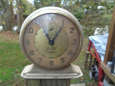 ANTIQUE VINTAGE Clock ALARM PARTS AS-IS ESTATE LUX JULIET DE LUXE AS-IS DECO