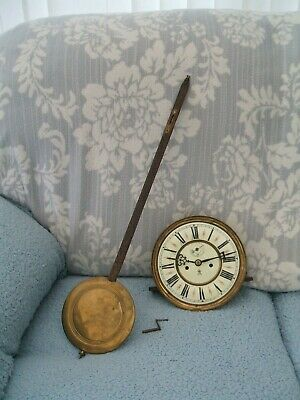 """Vintage Gustav Becker Two Weight Wall Clock """"Workings Only"""""""