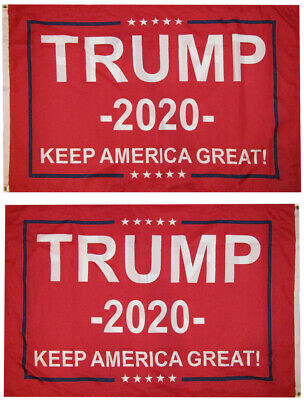 3x5 Trump 2020 Keep America Great! Red Woven Poly Nylon Double Sided 3'x5'
