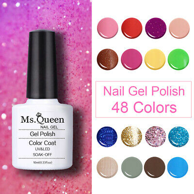 MS.QUEEN Gel Nail Polish Top Base Coat Lacquer Manicure No Wipe Top Base Coat