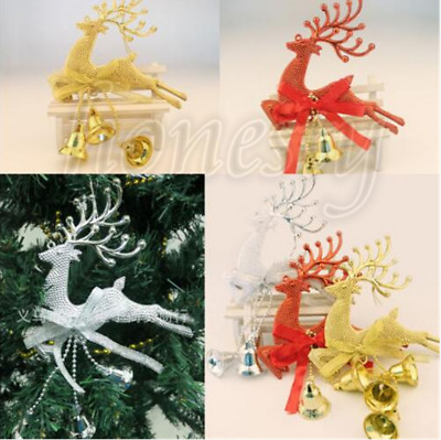 Home Christmas Tree Ornament Deer Chital Hanging Xmas Baubles Party Decoration L