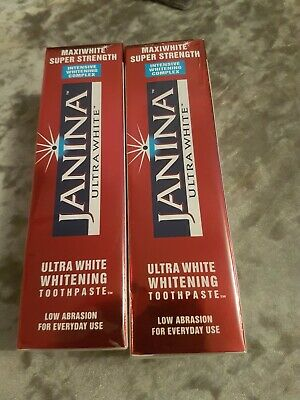 Janina Maxiwhite Super Strength Low Abrasion Toothpaste. 2 X 75Ml Tubes Exp11/20