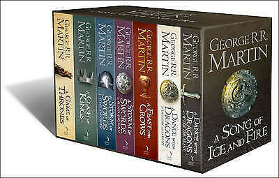 GEORGE R. R. MARTIN Game Of Thrones A Song Of Ice And Fire 7 Book Box Set & Map