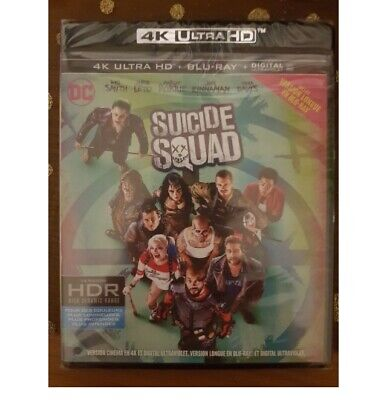 Suicide Squad 4k Ultra Hd + Bluray Neuf Sous Blister