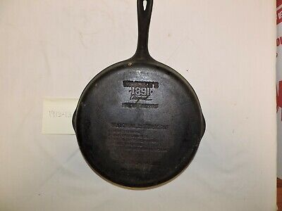 "Wagner Ware 1891 Original 10 1/2"" Cast Iron Skillet with Seasoning Instructions"