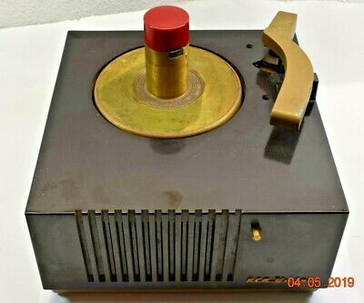 RCA Victor Bakelite Phonograph Record Player Model 9-EY-3 Parts or Restoration