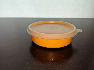 Tupperware Little Wonder Bowl #109 snack, lunch, storage Yellow w Sheer Lid/Seal