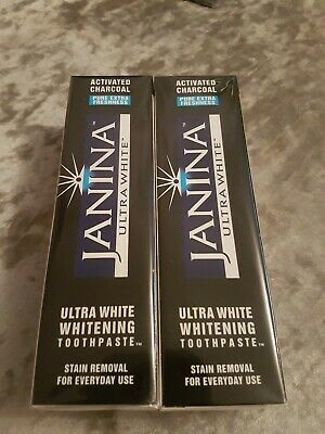 Janina Activated Charcoal Ultra White Stain Removal Toothpaste.2 X 75Ml Exp08/20
