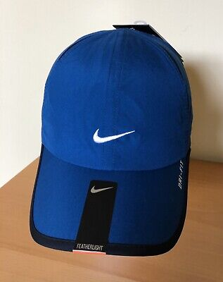 New Nike featherlight Hat cap from old stock feather dark Blue with white