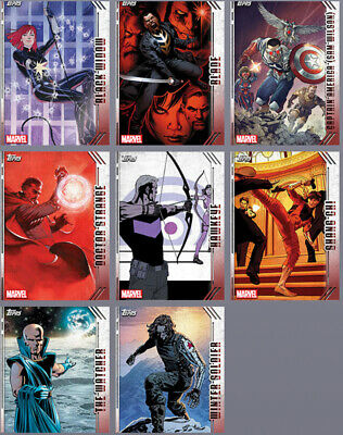 Topps Marvel Collect Card Trader Future Favorites Complete Set Series 1 +  2