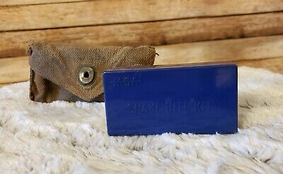 Vintage WWII 1942 U. S. Military Snake Bite Kit With Contents and Pouch