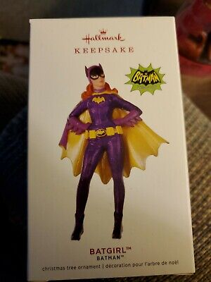 Hallmark 2019 BATGIRL Classic TV Batman Purple Shiny NIB Keepsake Xmas Ornament.