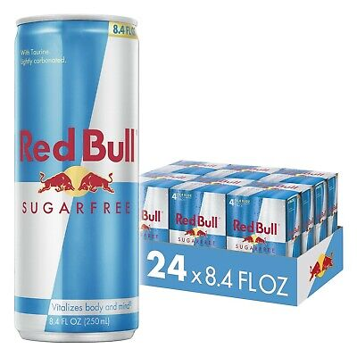 6 Pack of 4|Red Bull Energy Drink|Sugar Free|24 Pack of 8.4 Fl Oz cans|Sugarfree