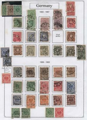 GERMANY: 1880-1900 Examples - Ex-Old Time Collection - Album Page (27069)
