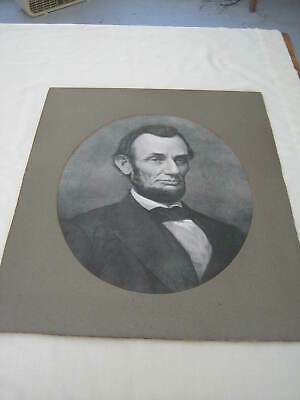 Large Antique Abraham Lincoln Print, M.T. Sheahan Boston, S P Dunham Dry Goods