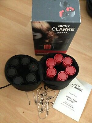 Nicky Clarke Classic Compact Heated Hair 12 Rollers Clips