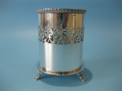 Very Nice Antique Silver Plated Georgian Style Bottle Holder / Table Coaster