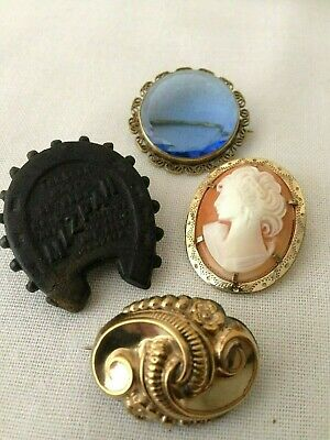 Job lot Antique / Vintage Brooches Mizpah , Cameo & Others Costume Jewellery