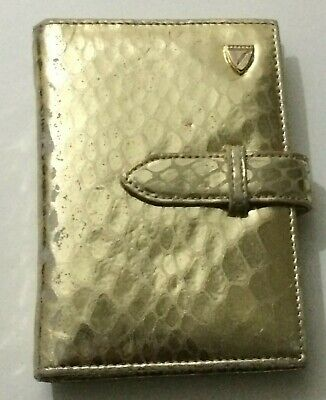 Aspinal of London Personal Organizer Filofax Planner Diary Gold Croc