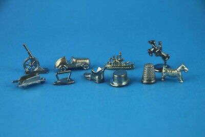Full Set of all 10 metal Monopoly Playing Pieces / Tokens  ~Pick Appearance
