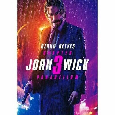John Wick: Chapter 3 Parabellum (DVD, 2019) Keanu Reeves New & Sealed Free