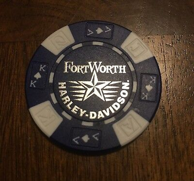 Fort Worth Texas  Harley Davidson Collectible Poker Chip