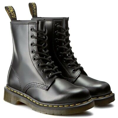 Dr Martens 1460 Airwair ORIGINAL Leather 8 Eye Smooth New Ankle Boots All Sizes