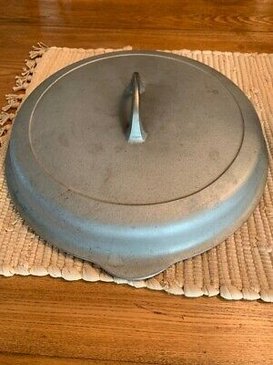 Vintage Griswold Cast Iron Chrome Plated #10 Self Basting Lid Only No. 1100