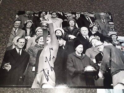 Ron Yeats Signed Liverpool Legends 1965 FA Cup 16x12 Photo