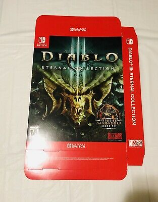 nintendo switch diablo 3 Game Store Promotional display Box
