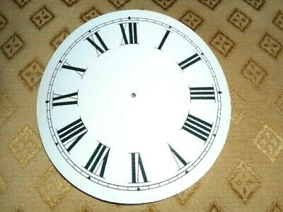 "Round Paper (Card) Clock Dial - 3 1/2"" M/T -Roman -WHITE GLOSS-  Parts/Spares"
