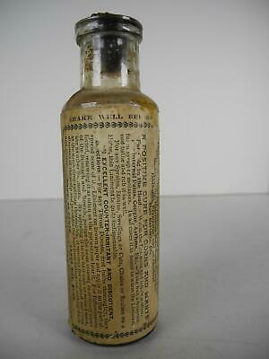 Antique Minard's Liniment King of Pain Quack Medicine Bottle with Paper Label