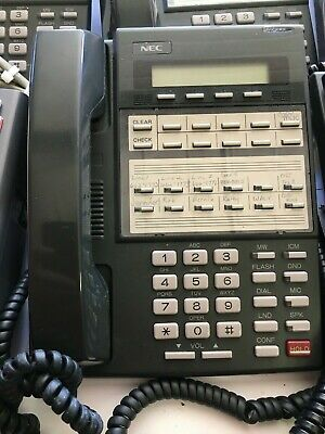 SET Of 7 Office NEC DS1000/2000 22 Button Display Speakerphone DX7NA12TXH 80573