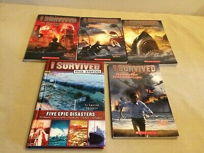 I SURVIVED Scholastic Chapter Books Lot 9 Stories  Lauren Tarshis RL4 Free Ship