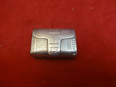 Antique Birmingham 1790 Sterling Silver Vinaigrette (#2120)