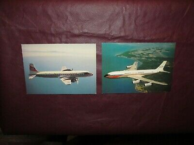 vintage Braniff international Airways In-Flight Postcards El Dorado 707 & DC-7C