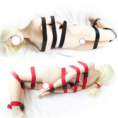 7 Pcs Nylon Full Body Harness Bondage Straps Restraints Belts Slave Toture BDSM